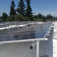 ZNE building solar panels