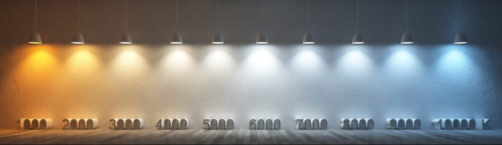 degrees of Kelvin tunable lighting