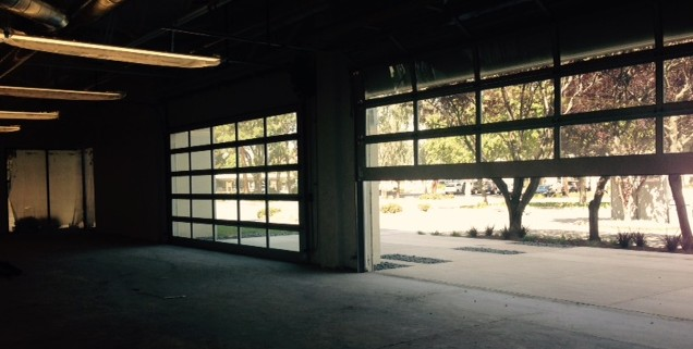 office building garage doors